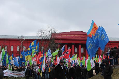 мітинг опозиції у Києві