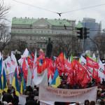 Мітинг біля пам'ятника Т.Шевченка