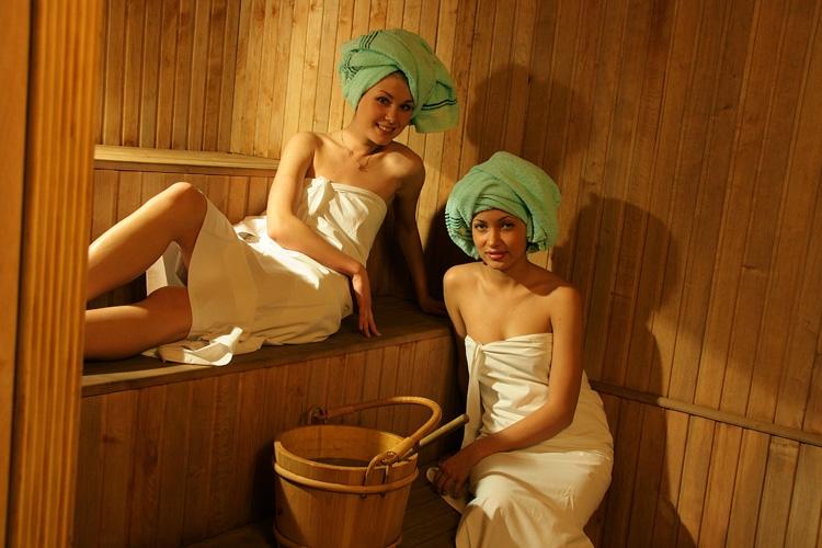 фото баня девушек