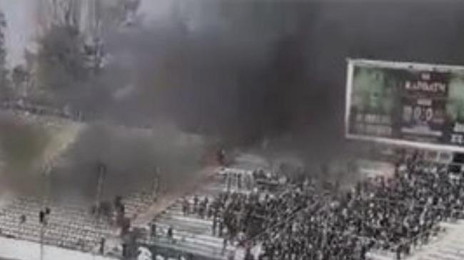 пожежа на стадіоні
