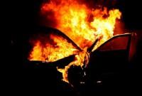 У Трускавці вночі згорів позашляховик Mitsubishi Pajero Wagon