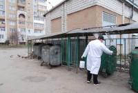 У Дрогобичі дезінфікують сміттєві контейнерні майданчики