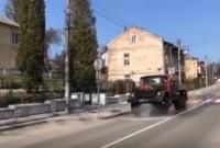У Дрогобичі продовжують дезінфікувати вулиці міста