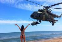 Як в Азові дівчата авіацію ЗСУ зустрічали