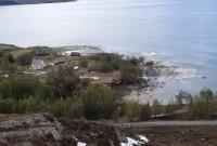 У Норвегії зсув забрав у море 8 будинків разом із сушею