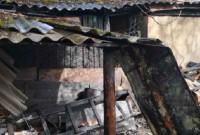 У Дрогобичі згоріла господарська будівля
