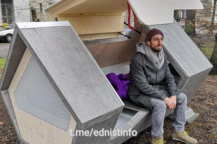спальні капсули для бездомних